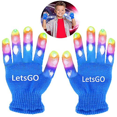 Christmas New Gifts for 5-10 Years Old Kids, Finger Light Flashing Led Gloves New Toys 2018 Christmas Toys 2018 for Girls Boys Fun Toys for 3-10 Year Old Kids Blue (New Great Christmas Gift)