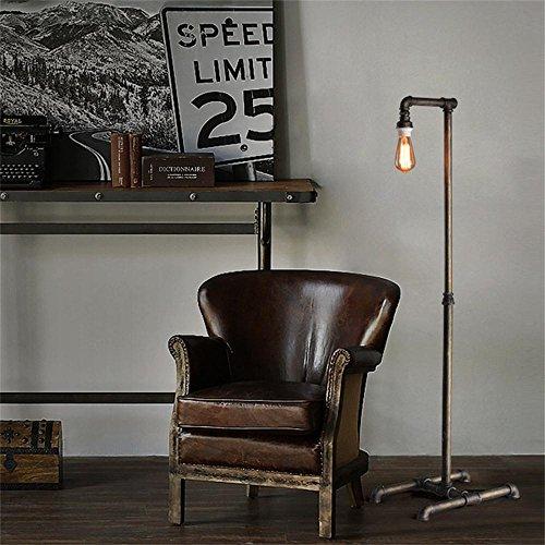 TOYM US-Industrial pipe floor lamp retro decorative wrought iron floor lamp living room by Floor Lamp (Image #3)