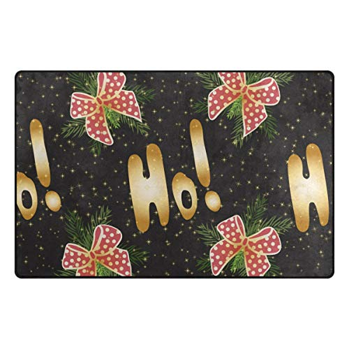MALPLENA Golden Ho Cute Bowknot Pattern Carpet Entry Way Door Mat Doormat Area Rug Floor Mats Shoes Scraper for Living Room/Dining Room/Bedroom/Kitchen Non Slip