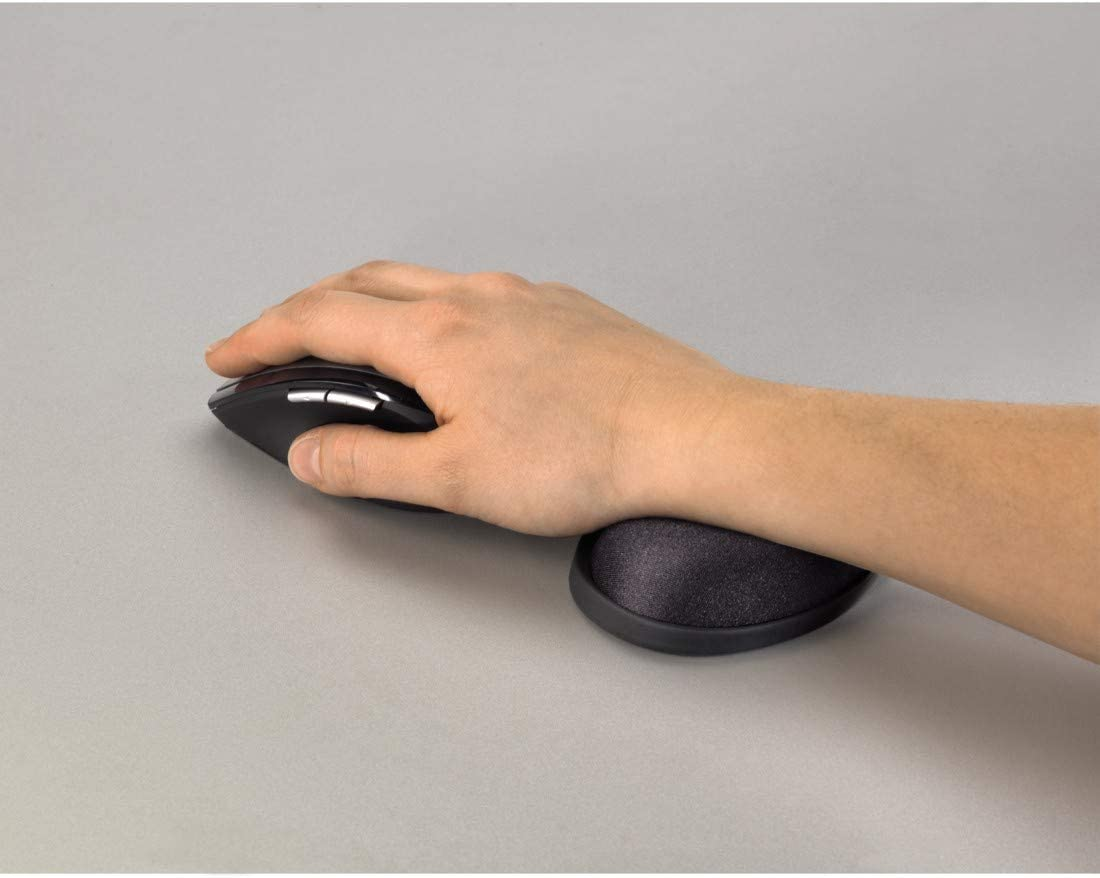 Wrist Rest for PC Applications with Mouse or Tablet Pen, Dimensions 105 x 75 x 25 mm, Ergonomic, Usable with Mouse Pad Hama 52263 Mini Wrist Rest with Foam Filling