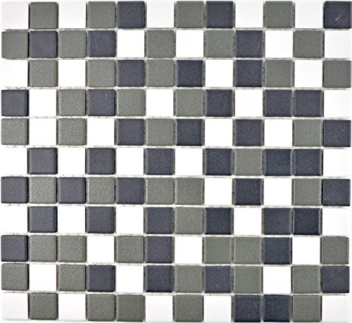 Mosaic tile ceramic black white metal for floor wall bathroom toilet shower kitchen tile mirror counter cladding bath…