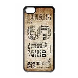 JJZU(R) Design Customized Cover Case with Lost for Iphone 5C - JJZU911518