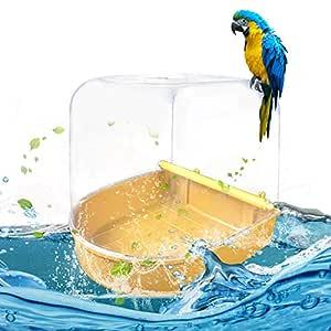 Besthuer Jaula de pájaros con Caja de baño de Aves Pájaro para ...