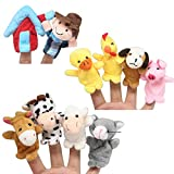 Homgaty 10 Pcs Animals Finger Puppets Story Telling Nursery Fairy Tale Perfect Kids Gift
