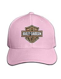 Harley Davidson Logo Men And Women Black Adjustable Cotton Baseball Cap Mesh Cap