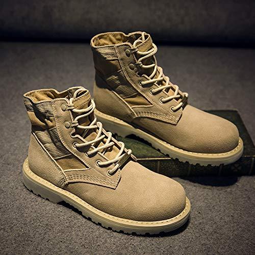 LOVDRAM Stiefel Männer Martin Stiefel Herren Pu Damen Stiefel Werkzeug Schuhe Militärstiefel Kurze Stiefel Paar Desert Stiefel Herren Hohe Schuhe Im Freien