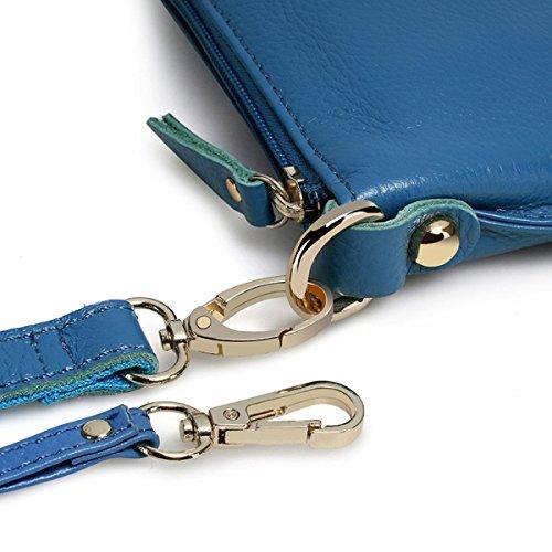 Semplice Borsa A Mano In Pelle Messenger Bag Borsa A Mano Casuale Delle Donne Blue