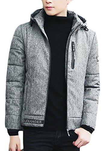 UK Down Packable Puffer today Hooded Sleeve Men's Grey Jacket Light Weight Long TcAAZdq