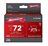 Arrow Fastener 721189 Genuine 1/2-Inch T72 Insulated Staple, 300-Pack