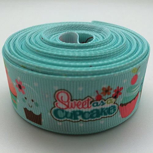 - PEPPERLONELY 10 Yards 25mm (1 Inch) Cupcakes Sundaes Grosgrain Ribbon