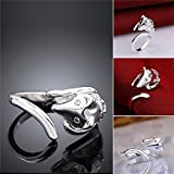 Sumanee Gift Jewelry Fashion Women Finger Cute Lady Ring Silver Plated Fox Adjustable