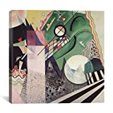 "Museum quality Green Composition By Wassily Kandinsky Canvas Print #11399 - 26""x26"" (.75"" inch deep). The art piece comes gallery wrapped, ready for wall hanging with no additional framing required. This print is also available in multi-piece or over..."