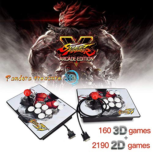Arcade Game Console 2350 games in Pandoras 3D box, 2 Players Joysticks Arcade Machine 1920×1080 HD Output Support for TV Laptop PS4 Nintendo