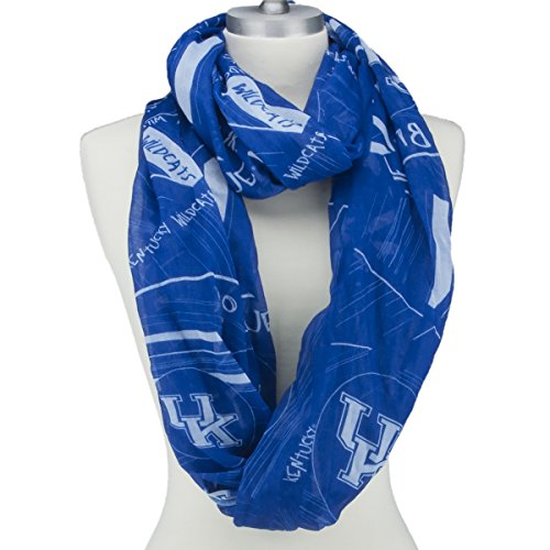 Wildcats Light Kentucky (Kentucky Wildcats Lightweight Infinity Scarf with Geometric Designs, Wildcat Logos and Colors)