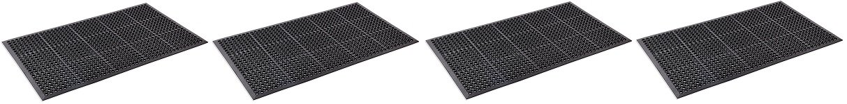 Kempf Anti- Fatigue Drainage Rubber Mat 3' X 5' (4-(Pack))