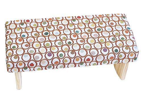 Joy Is Within You Folding Meditation Bench Premium 3 Sizes Many Colors (Made in USA) (Circles, Large)