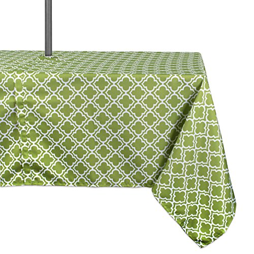 - DII Spring & Summer Outdoor Tablecloth, Spill Proof and Waterproof with Zipper and Umbrella Hole, Host Backyard Parties, BBQs, & Family Gatherings - (60x84