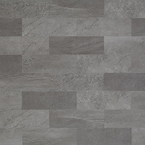 Mannington Hardware ASP405 Adura Locksolid Collection Meridian Luxury Vinyl Tile Flooring, Carbon Mannington Luxury Vinyl Tile