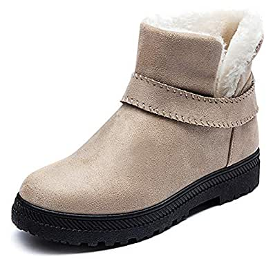 Amazon.com | Eagsouni Ankle Boots Fur Lined Winter Snow