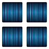 Ambesonne Harbour Stripe Coaster Set of