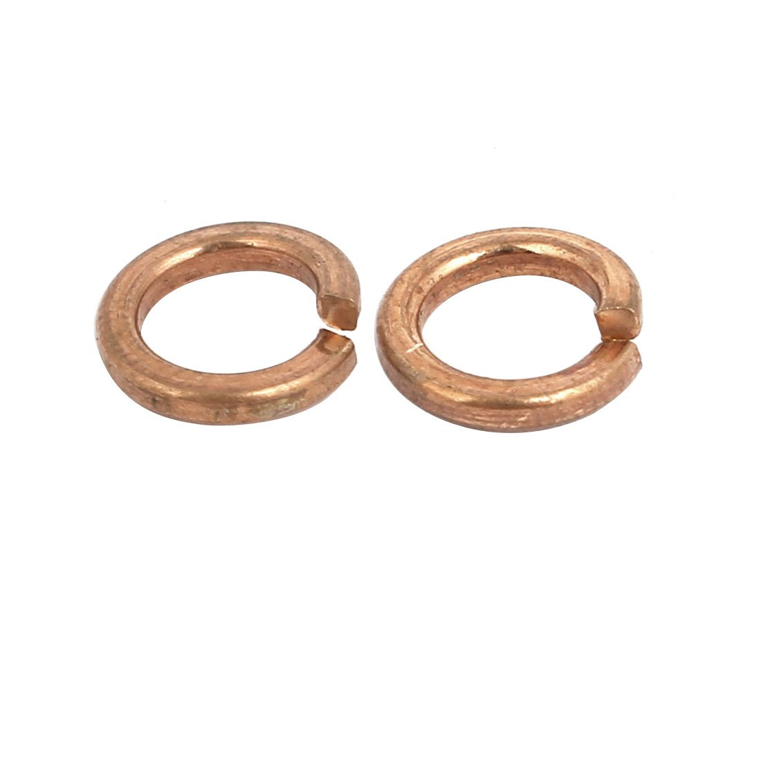 uxcell 20pcs 5mm Inner Dia Brass Split Lock Spring Washer Gasket Gold Tone