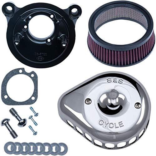- S&S Cycle Mini Teardrop Stealth Air Cleaner Chrome 170-0441