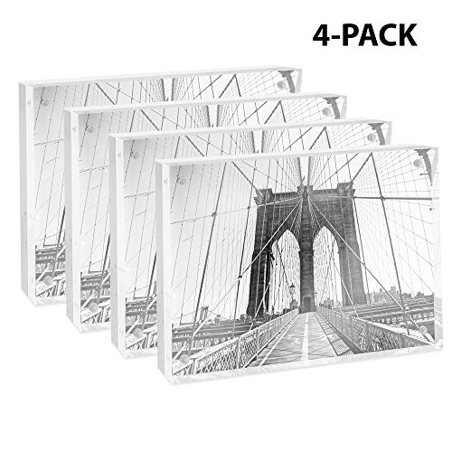 - Isaac Jacobs Super Thick Acrylic Magnetic Block Frame, 5x7 Inches (4 Pack)