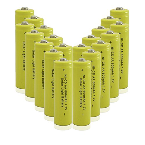 GEILIENERGY Solar Light AA Ni-CD 600mAh Rechargable Batteries (Pack of 20)
