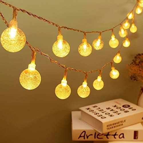 Zorela Catena Luminosa 10M 80 LED Luci da Giardino, Luci da Esterno Luci di Natale Interno Bulbo Lampade Ghirlanda Con 8 Modalità Flash Adattatore, Luci per Casa, Festa, Matrimonio, Giardino, Natale