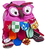 Handmade Pink Owl Small Backpack Purse Bag, Bags Central