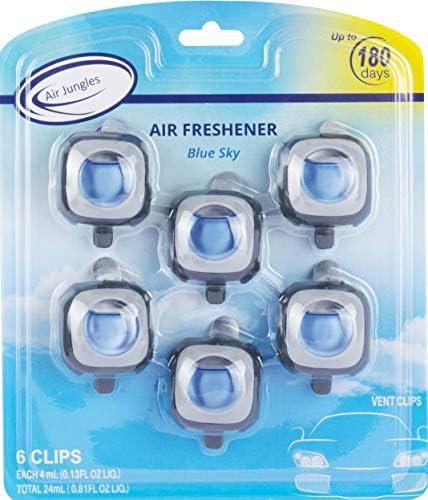 New Car Scent Car Air Freshener Clip 6 Car Freshener Vent Clips 4ml Each Long Lasting Air Freshener for Car Up to 180 Days Car Refresher Odor Eliminator