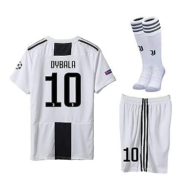154441371 Speed Johng Juventus 2018 2019 Season  10 Dybala Home Youths Kids Soccer  Jersey
