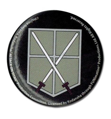 Great Eastern Entertainment Attack On Titan 104th Trainees Squad Emblem Button Great Eastern Entertainment Inc 16199