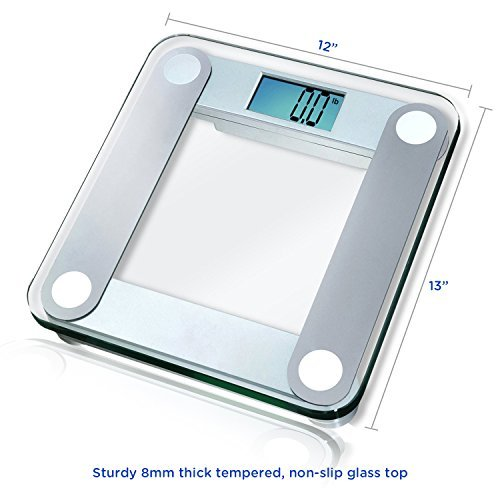 EatSmart Precision Digital Bathroom Scale with Extra Large Lighted Display Free Body Tape Measure Included