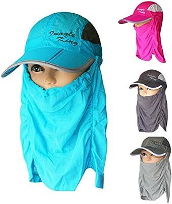 a06cbb9ec36d5 Sun Hats Womens Mens Hiking Fishing Hat Brim Face Cover Sunblock (JKM-01)