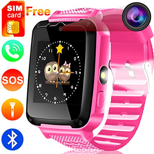 "Cheap Kids Phone Smart Watch [Free SIM Speedtalk ] 2 Way Call 3-15 Year Children Boys Girls Teen SOS Game Camera 1.54"" HD Touch Screen Bracelet Wrist Watches Bluetooth Travel Birthday Gift Back To School"