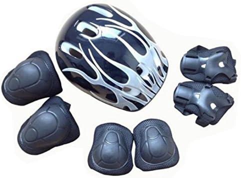 TUPWEL 4〜16歳 子供用ローラースケート 保護ギア ヘルメット 手首 肘 膝パッド 安全ガード スポーツ サーチパッド スケート/自転車/スケートボード/アウトドア活動用 7個