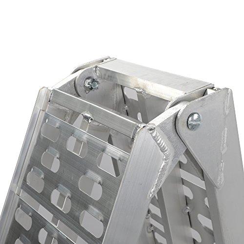 Motorhot 2 Pcs 7.5'ft Aluminum Folding Loading Ramps Top for Lawnmower ATV Truck Motorcycle Ramp Silver 1500lbs Capacity by Motorhot (Image #6)