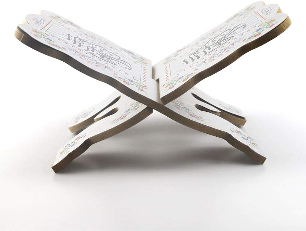 Fulstarshop Wooden Book Stand Foldable Religious Book Holder Bible Book//Geeta Book//Quran Book Stand 2020 New Ramadan Gifts for Home Decoration Church and Chapel Supplies