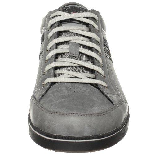 Skechers Lanyard Passport 50981 CHAR - Zapatillas de cuero para hombre Gris (Dunkelgrau)