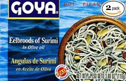Goya Eelbroods of Surimi 3.8oz 2 Pack