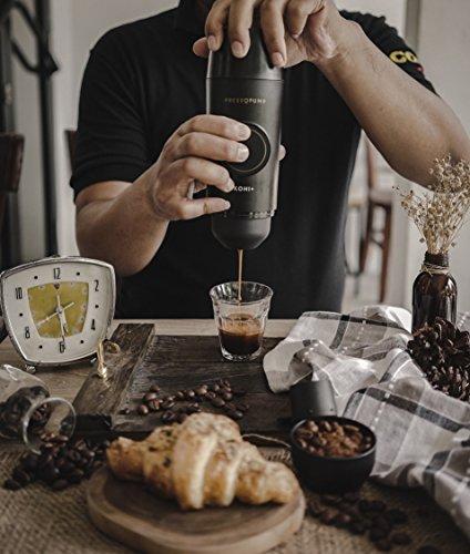 PRESSOPUMP Cordless Espresso Maker (Automatic) | Mini Espresso Coffee Machine | Perfect Gift for Home, Outdoors and Office | Black by Pressopump (Image #5)