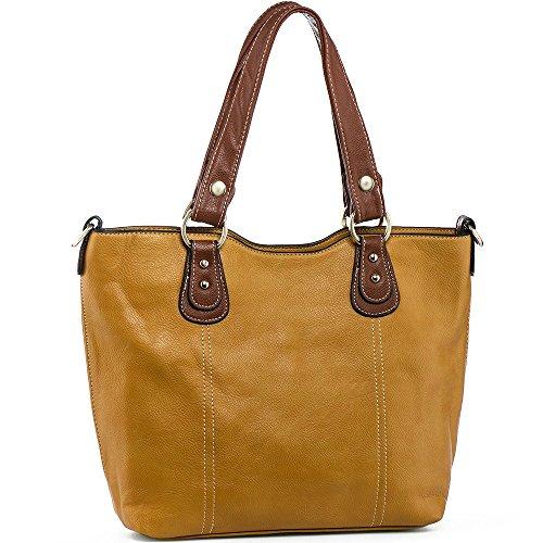 UTAKE Handbags for Women Top Handle Shoulder Bags PU Leather Tote Purse Medium Yellow by UTAKE