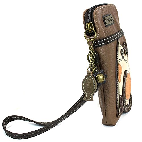 Leather With Purse Phone Cell Crossbody Chala Handbag Brown Pu Strap Cat Multicolor Women Adjustable wC6qFnxp