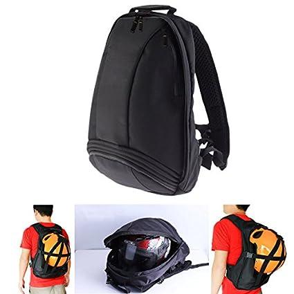 Alamor Motocicleta bicicleta mochila casco bolsa plegable Laptop viaje deporte bolsa lluvia cubierta negro