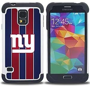 """SAMSUNG Galaxy S5 V / i9600 / SM-G900 - 3 en 1 impreso colorido de Altas Prestaciones PC Funda chaqueta Negro cubierta gel silicona suave (Nueva York"""")"""