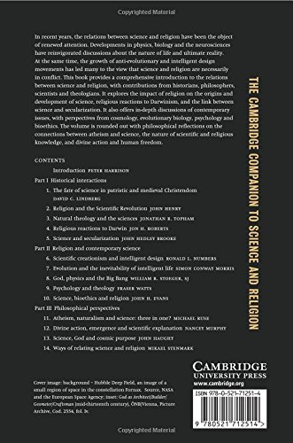 The Cambridge Companion To Science And Religion Cambridge  The Cambridge Companion To Science And Religion Cambridge Companions To  Religion Peter Harrison  Amazoncom Books