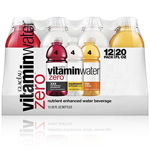 vitaminwater zero, electrolyte enhanced water w/vitamins, variety pack, 20 Fl. Oz, 12 pack