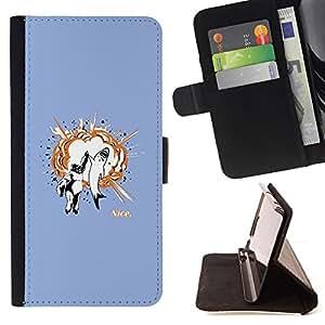 BullDog Case - FOR/Apple Iphone 5C / - / Funny Awesome Shark High Five /- Monedero de cuero de la PU Llevar cubierta de la caja con el ID Credit Card Slots Flip funda de cuer