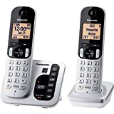 Panasonic KX-TGC222S DECT 6.0 2-Handset Landline Telephone with Answering Machine (Renewed)